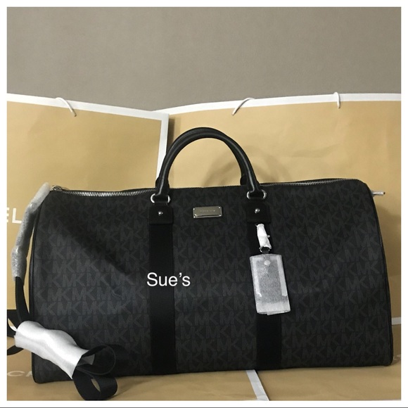 8894a23b243876 Michael Kors Bags | Nwt Mk Jet Set Xl Travel Duffle Bag Black | Poshmark